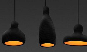 Papier Mache Lamp Shed